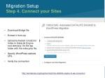 migration setup step 4 connect your sites