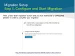 migration setup step 5 configure and start migration