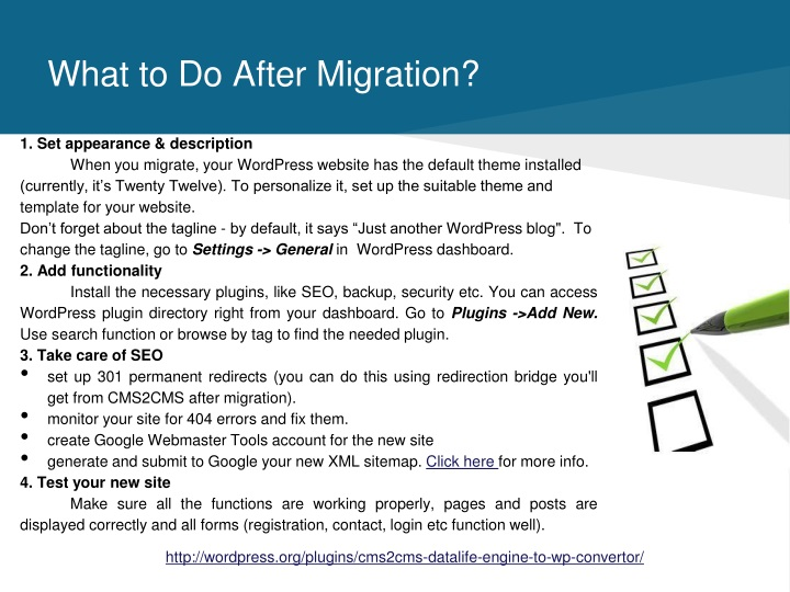 What to Do After Migration?