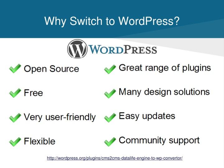 Why Switch to WordPress?