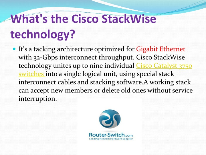 What s the cisco stackwise technology