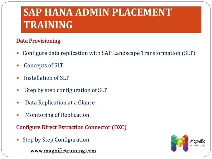 SAP HANA ADMIN PLACEMENT TRAINING