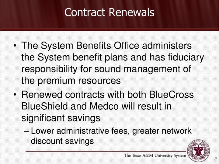 Contract Renewals