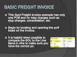 basic freight invoice