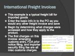 international freight invoices