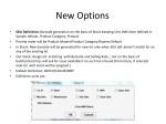 new options