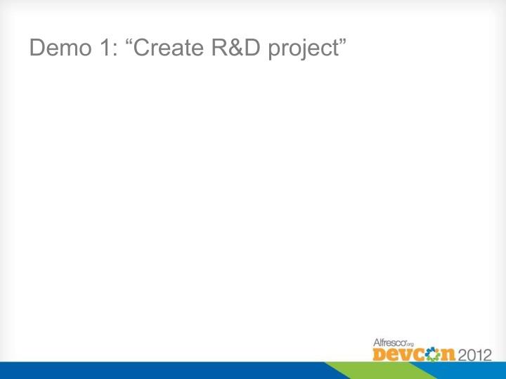 """Demo 1: """"Create R&D"""