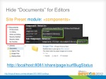 hide documents for editors