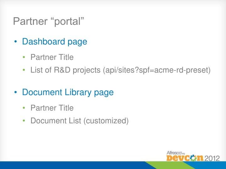 """Partner """"portal"""""""