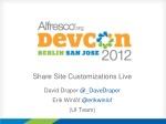 share site customizations live