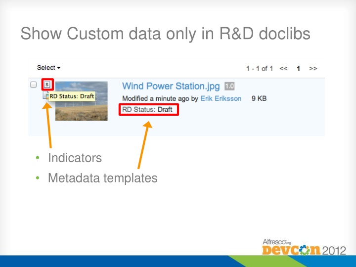 Show Custom data only in R&D