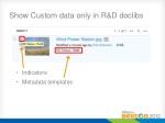 show custom data only in r d doclibs