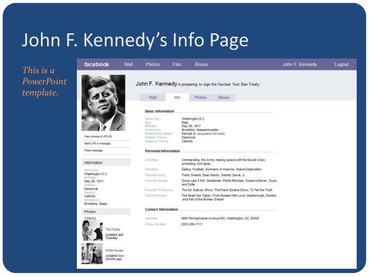 John F. Kennedy's Info Page