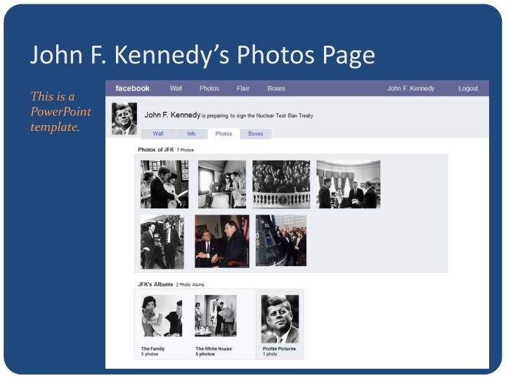John F. Kennedy's Photos Page