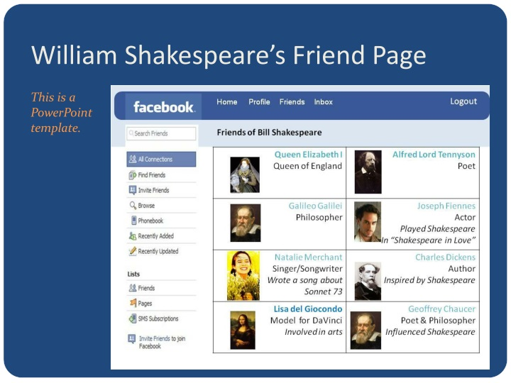 William Shakespeare's Friend Page