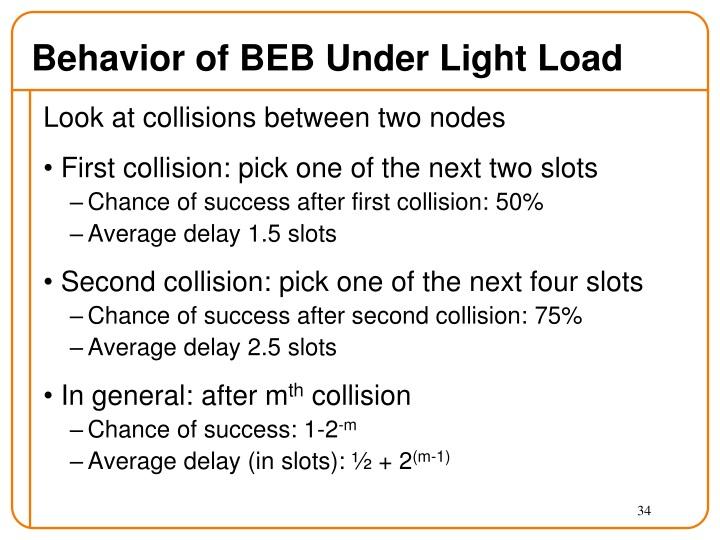 Behavior of BEB Under Light Load