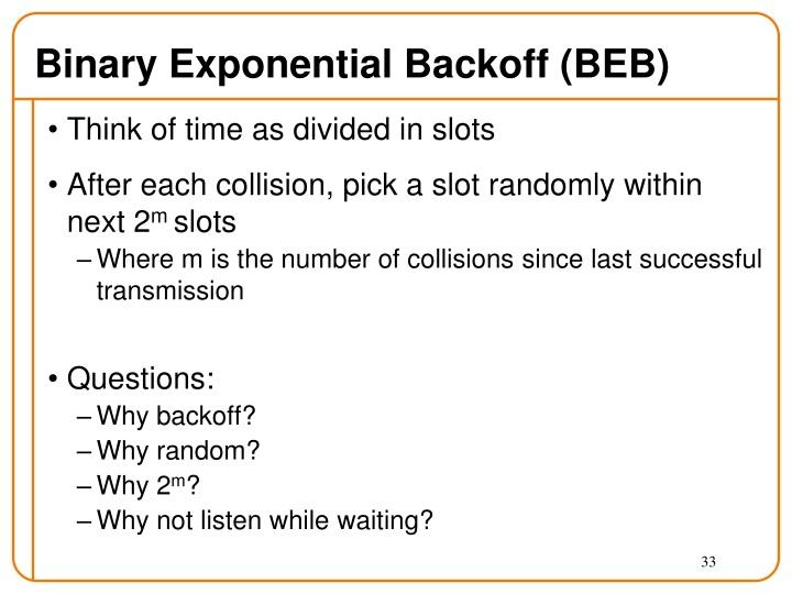 Binary Exponential Backoff (BEB)