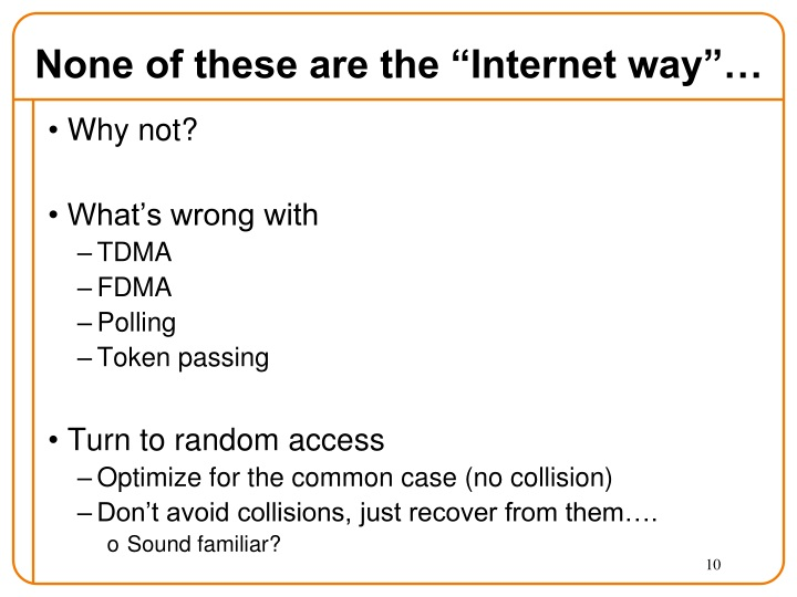 "None of these are the ""Internet way""…"
