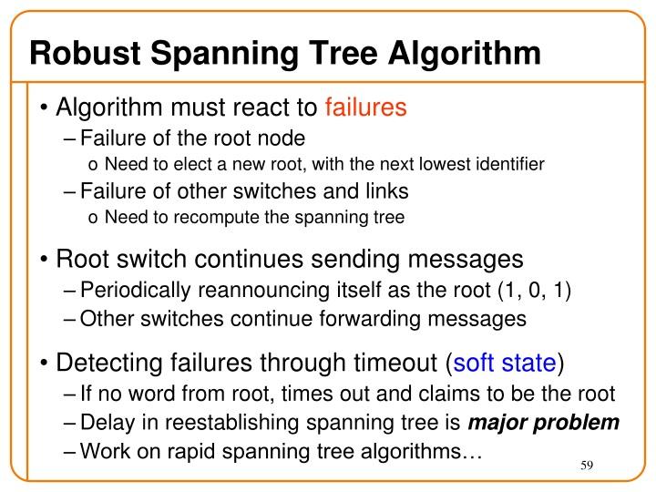 Robust Spanning Tree Algorithm