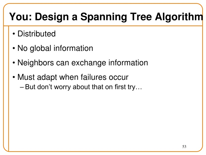 You: Design a Spanning Tree Algorithm