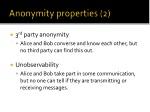 anonymity properties 2