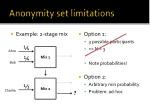 anonymity set limitations
