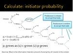 calculate initiator probability