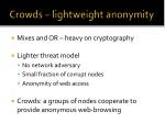 crowds lightweight anonymity