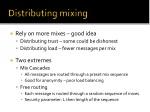 distributing mixing
