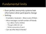 fundamental limits