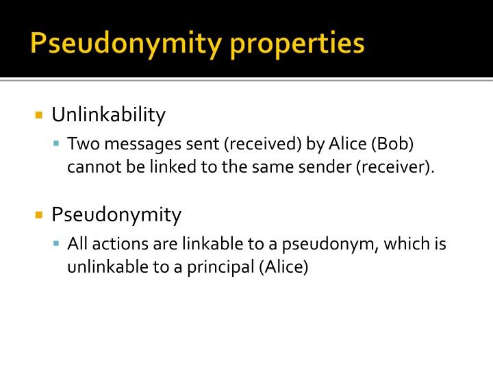 Pseudonymity