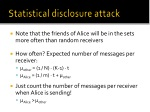 statistical disclosure attack