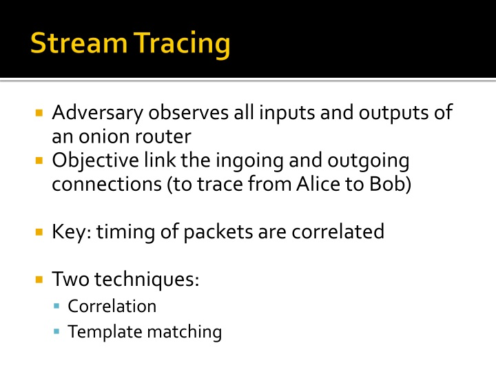 Stream Tracing