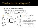 two broken mix designs 1