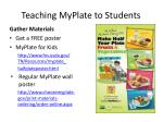 teaching myplate to students