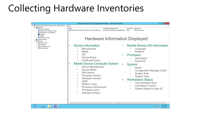 Collecting Hardware Inventories