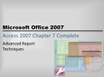 access 2007 chapter 7 complete