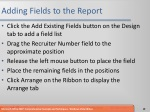 adding fields to the report