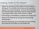 adding fields to the report1