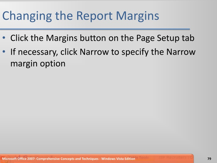 Changing the Report Margins