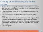 creating an additional query for the report2