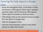 opening the sub report in design view
