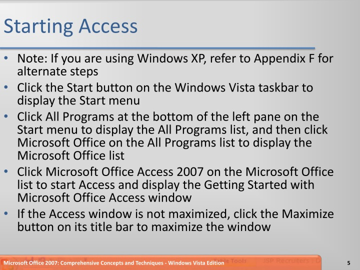Starting Access