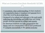 what are common core state standards ccss