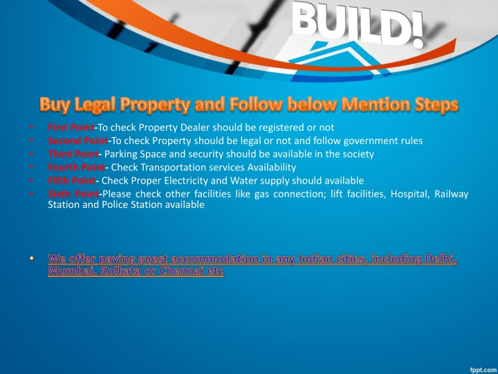 Buy Legal Property and Follow below Mention Steps