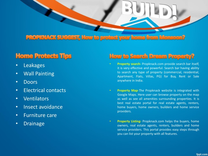 PROPKNACK SUGGEST, How to protect your home from Monsoon?