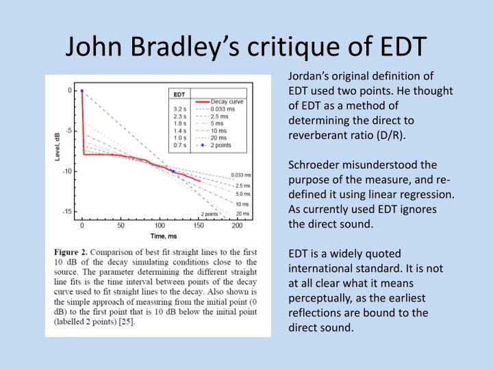 John Bradley's critique of EDT