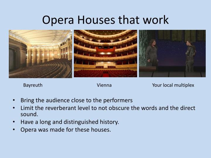 Opera Houses that
