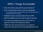 dpo s things to consider