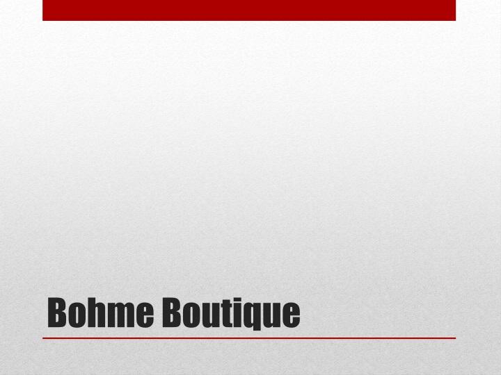 Bohme Boutique